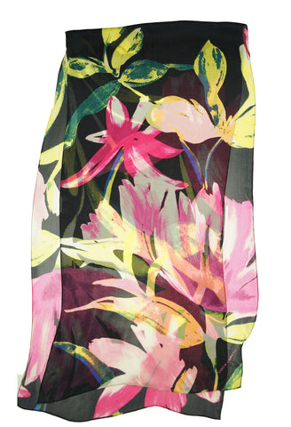Vince Camuto Women's Floral Bold Strokes Silk Oblong Scarf