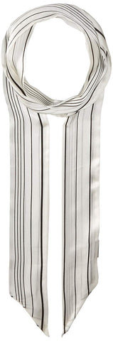 Vince Camuto Women's Pinstripe Skinny Scarf, WHITE, One Size