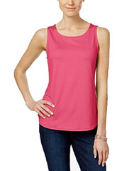Charter Club Sleeveless Tank Top (Glamour Pink, XXL)