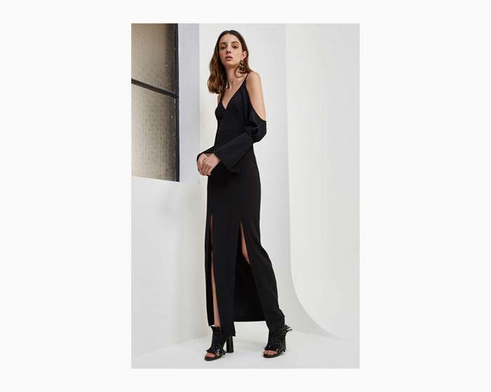 C/meo Collective Women's Black No Reason Full Length Dress, NWT, S, $220