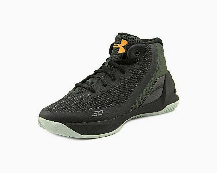 Under Armour PS Curry 3 Youth US 12.5 Black Basketball Shoe