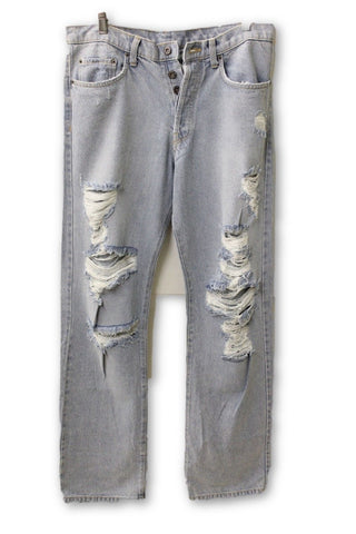 Carmar Women's Ripped Light Blue Jeans, Size 28W