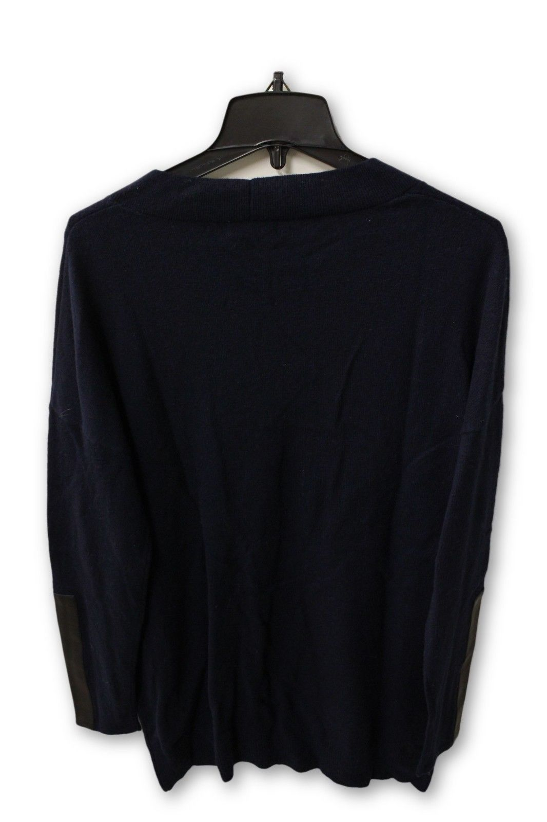 C by Bloomingdale's Women's Cashmere - Navy V Neck Sweater L NWT
