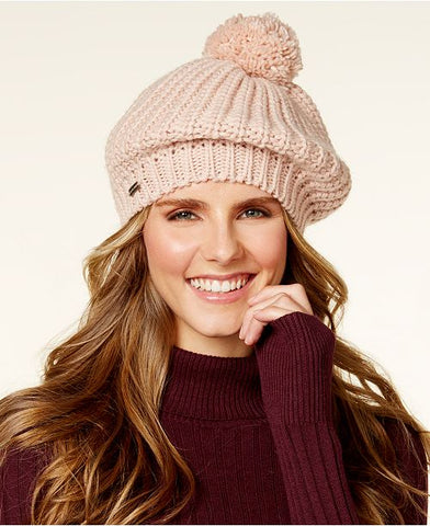 Steve Madden Women's Ribbed Knit Beret Hat