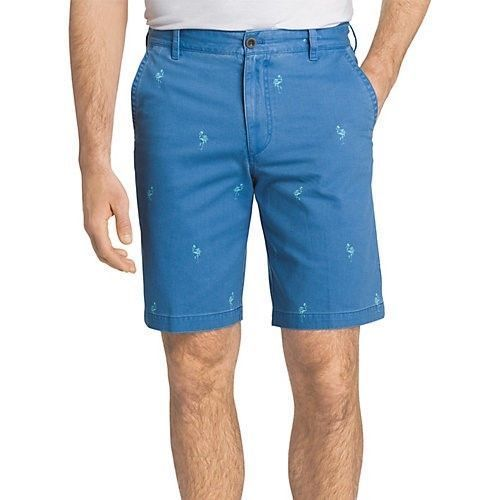 "Izod Men's Blue Novelty Printed 9.5"" Shorts, Size 42W"