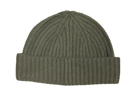 Bloomingdale's Men's Olive Ribbed Beanie
