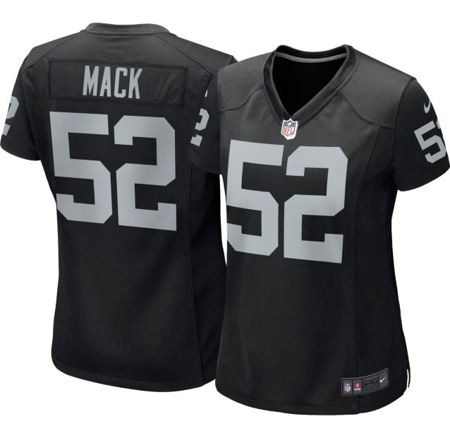hot sales 133fe c9928 Nike Men's Home Game Jersey Oakland Raiders Khalil Mack #52