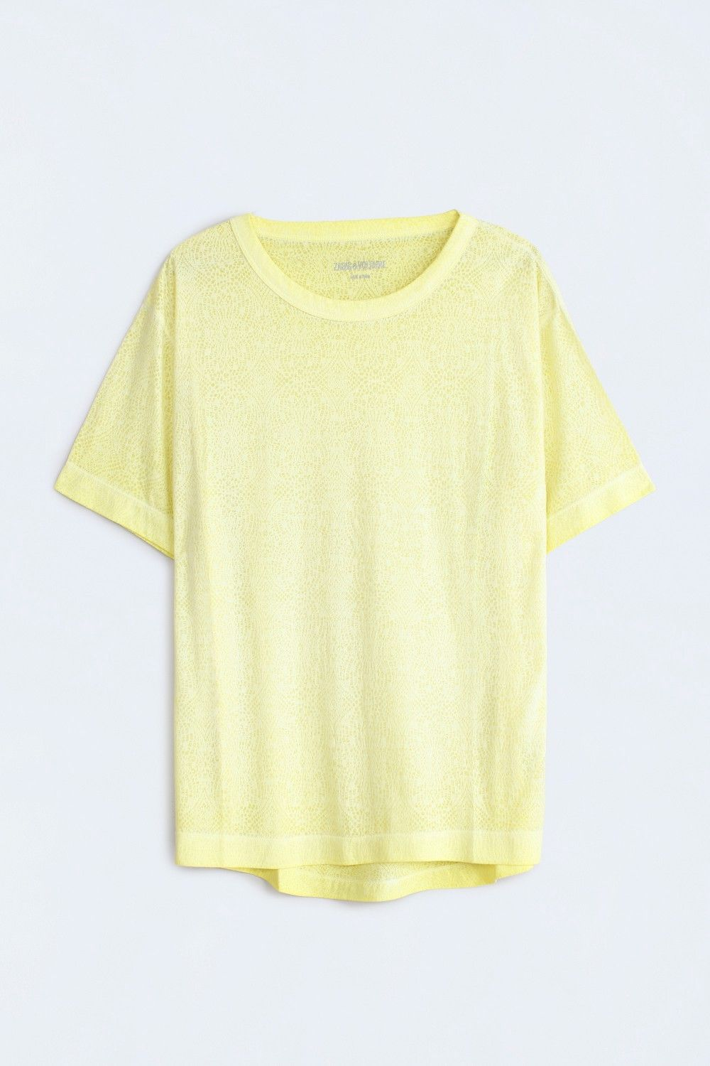 Zadig & Voltaire Women's Anny Burn Sheer T Shirt, NWT, $120