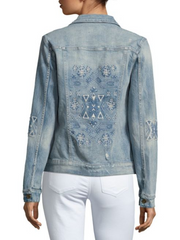 Driftwood Women's Long-Sleeve Denim Jacket, Light Blue, NWT, M, $172