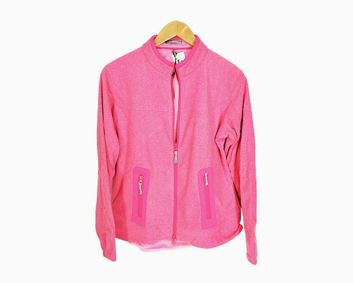 Peter Millar Women's Full Zip Fleece Performance Jacket - Pink