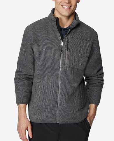 32 Degrees Men's Grey Fleece Jacket, Size L