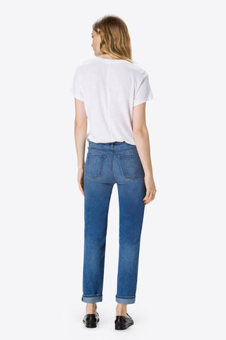 J Brand Women's Johnny Mid-Rise Boy Fit Jeans