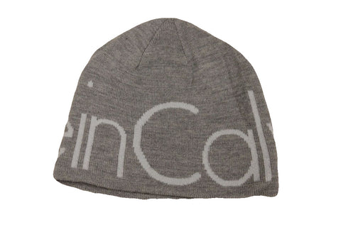 Calvin Klein Men's Light Gray Logo Beanie