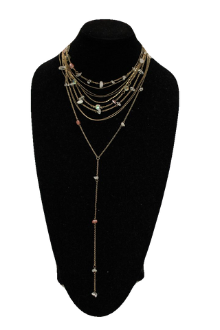 Free People Antique Collar Rock Chain Necklace w/ Drop