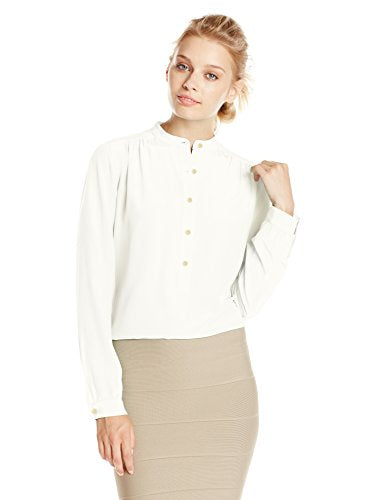 BCBGMAXAZRIA Women's Marteena Long-Sleeve Peasant Blouse