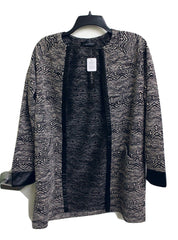 August Silk Women's Black & White Yarn Cardigan NWT