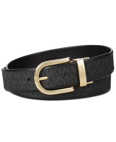 MICHAEL Michael Kors Women's Smooth Signature Reversible Leather Belt Size Large, 37""
