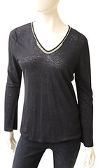 Ecru Clothing Sheer Linen Top With Beaded Neck, Size M, New, 169