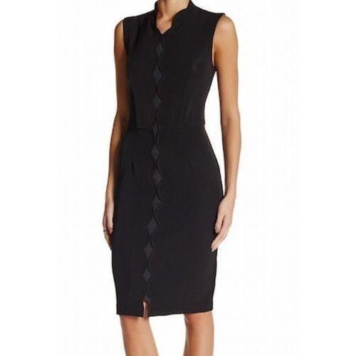 Alexia Admor Black Womens US Size XS Scallop-neckline Sheath Dress