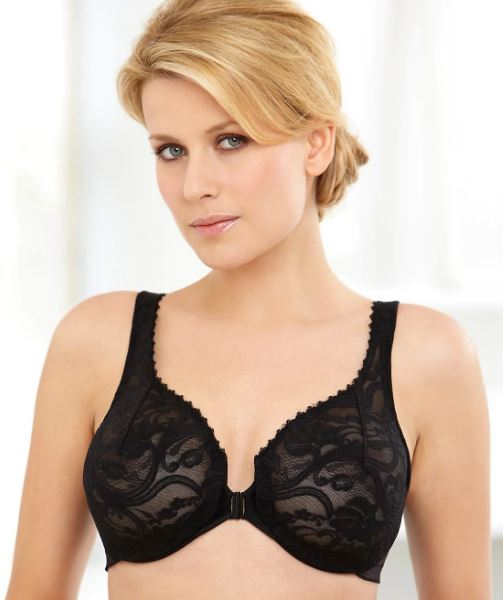 c66d7b096e Glamorise womans black wonderwire front close bra nwot cheap jpg 503x600 Bra  34f