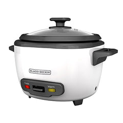 Black & Decker White RC516 16-Cup Cooked/8-Cup Uncooked Rice Cooker and Food Steamer