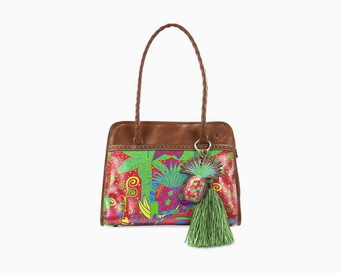 Patricia Nash Tropicana Summer Paris Satchel Handbag Multicolor Leather - NWT