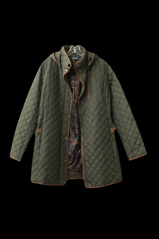 Lauren Ralph Lauren Women's Green Quilted Jacket, Size XL