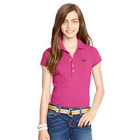 Polo Ralph Lauren Girls Stretch Cotton Polo Maui Pink NWT