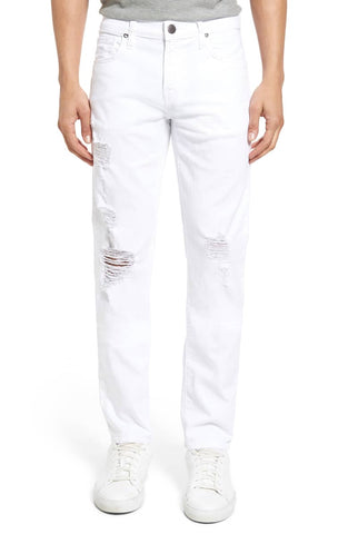 J Brand Men's Distressed White Tyler Slim Fit Jeans, Size 34