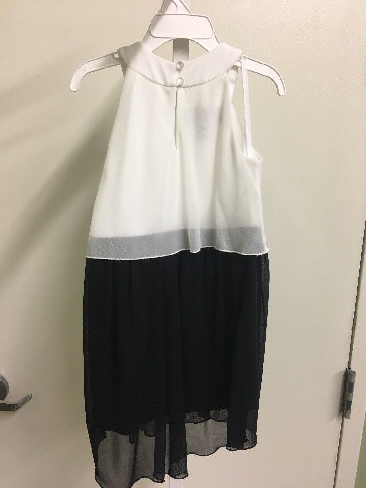 BCX Girl Black And White Dress Size 5