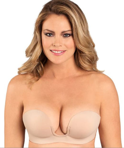 Fashion Forms Voluptuous U Plunge Backless Strapless Bra 29710, Nude, Size B