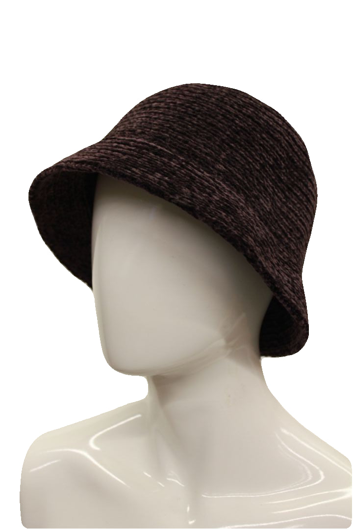 August Hat Company Women's Chocolate Crochet Classic Chenille Knit Cloche Hat