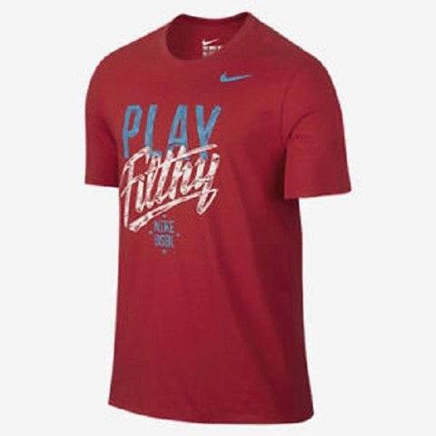 "Nike Men's Red ""Play Filthy"" T-Shirt"