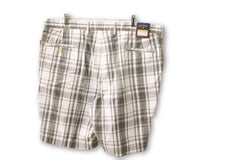 Bill Khakis Men's White and Green Shorts Size 40 NWT