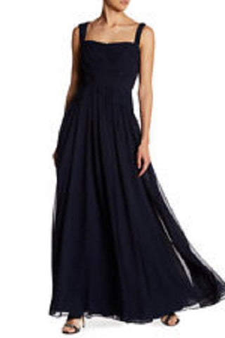 Vera Wang Women's Sleeveless Solid Gown - Navy, Size 8