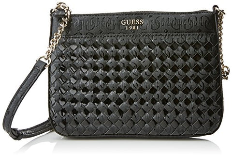 Guess Black Flutter Top-Zip Small Crossbody