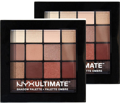Nyx Cosmetics Warm Neutrals Ultimate Shadow Palette 2 Pack