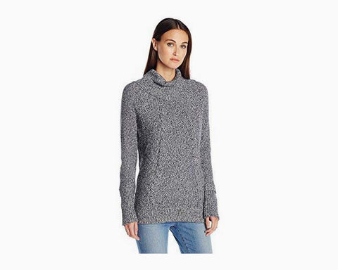 Calvin Klein Women's Thermal Stitch Cowl Neck Sweater