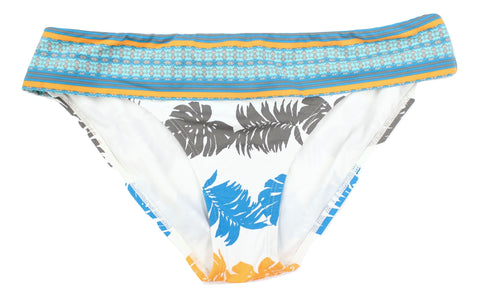 Tommy Bahama Women's Gray Blue Orange Palms Bikini Bottom Size S