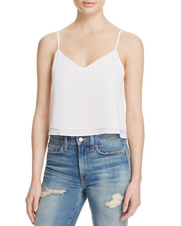 Alice and Olivia Women's White Double Layered Tank, Size M