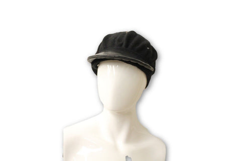 Ralph Lauren Women's Black Stitched Hat, One Size Fits All