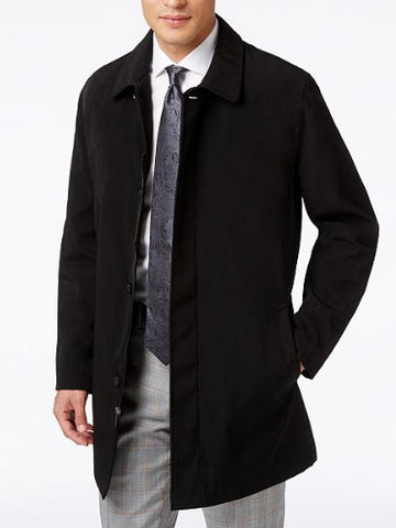 Kenneth Cole Men's Black Revere Raincoat, Size 40R