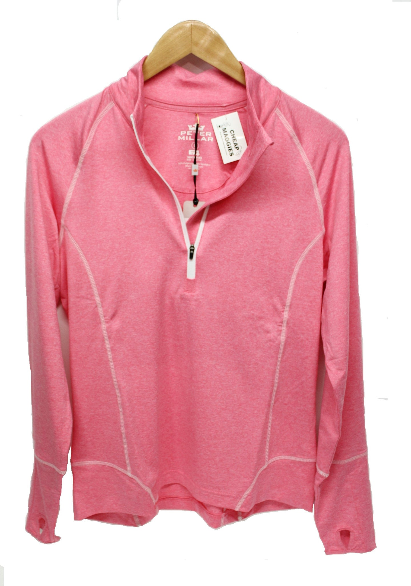 Peter Millar Women's Quarter Zip Stretch Performance Top - Pink