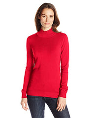 Calvin Klein Women's Essential Long Sleeve Mock Neck Sweater