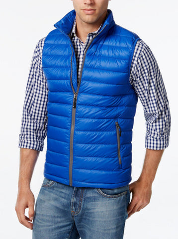 32 degrees Men's Blue Nano Light Packable Vest, Size M