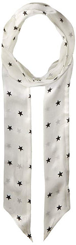Vince Camuto Women's Supernova Star Skinny Scarf, WHITE, One Size