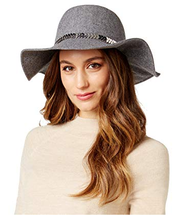INC International Concepts Women's Gray Chain Floppy Hat