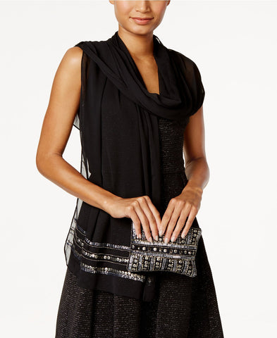 Vince Camuto Embellished Evening Wrap and Clutch