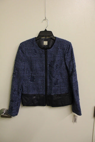 Ecru Women's Indigo Tweed Jacket S NWT