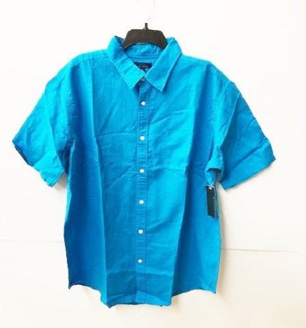 Cole Daniel Men's Turquoise Cotton Woven Shirt, NWT